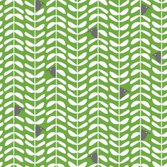 """Leaf Stem Green"" Organic - Craft Cotton"