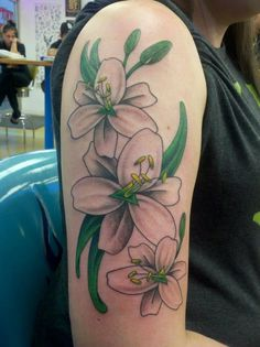 Jake Tattoo - Tulsa Tattoo Co Sexy lillies Sidepiece tattoo