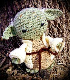 Star Wars Inspired Yoda Crochet Pattern by MostlyStitchin on Etsy