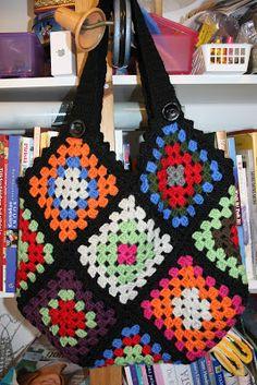 Granny-bag (in finnish) Crochet For Beginners, Crochet Fashion, Knit Crochet, Blanket, Sewing, Knitting, Diy, Bags, Fashion Tips