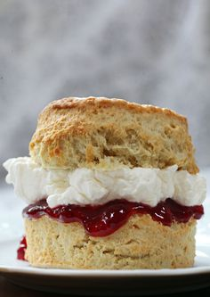 Traditional British scones slightly sweet and best served with jam and cream | drizzld.com