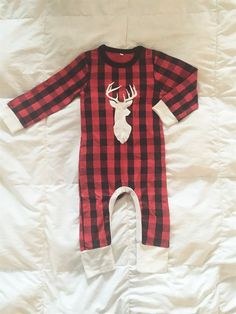 Red Buffalo Plaid Romper! 3 Months-5T | Jane