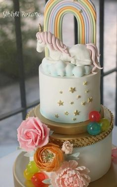 Floral Unicorn Cake  - Cake by Sihirli Pastane