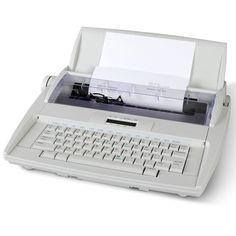 The Typo Preventing Electronic Typewriter - Hammacher Schlemmer