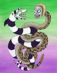Beetlejuice Serpent & Sandworm print | Etsy