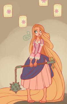 Rapunzel Warrior Princess by MeoMai on DeviantArt Disney Rapunzel, Disney Amor, Tangled Rapunzel, Pascal Tangled, Disney Fan Art, Disney Love, Disney Girls, Disney Princess Warriors, Warrior Princess