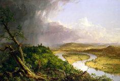 Thomas Cole. Vista, después de una tormenta, desde el monte Holyoke, Northampton, Massachusetts, el Oxbow (1836)