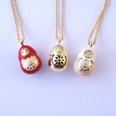 Matryoshka necklaces