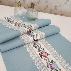411 Likes, 15 Comments - Patishka Home Home Textile . - Decor Home Table Runner And Placemats, Table Runner Pattern, Table Runners, Table Covers, Bed Covers, Cute Photos, Table Linens, Home Textile, Hand Embroidery