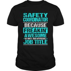 Safety Coordinator Because FREAKING AWESOME Is Not An Official Job Title T-Shirt, Hoodie Safety Coordinator