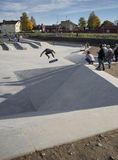 Hyttgardsparken-skating park in sweden / 42architects