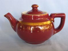 Hall China Maroon 2-Cup Boston Teapot from mywifesshop on Ruby Lane