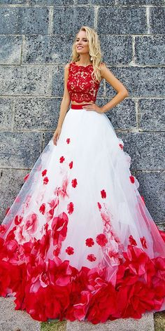 Colorful Wedding Dresses For Non-Traditional Bride ❤ See more: http://www.weddingforward.com/colourful-wedding-dresses/ #weddings