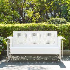 Bates White Sofa Glider Crosley Furniture Sofas Patio Sofas & Loveseats Outdoor & Patio Fu
