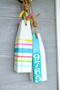 DIY Buoys with your address- love it!