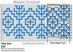 Crochet Crocodile Stitch, C2c Crochet, All Free Crochet, Crochet Chart, Crochet Pattern Central, Tapestry Crochet Patterns, Knitting Patterns, Crochet Stitches Patterns, Graph Paper Art