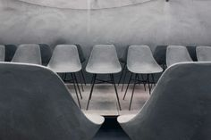 These Mid-Century Inspired Concrete Chairs Are Incredible. A nice look for any spot.
