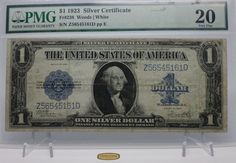 F-238  1923 Large Size Dollar, Silver Certificate , PMG VF20  - #B1195