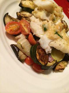 Haddock with Lemon Pan Sauce and roasted vegetables thru Mealspirations - photo credit Sonya Davidson link here... http://urbanmoms.ca/life/food/mealspirations-what-i-need-right-now/ #haddock #haddockrecipes #fish #fishrecipes #lemonpansauce #roastedvegetables #seafood #seafoodrecipes #recipes #food #lunch #dinner