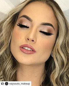 Formal Makeup, Makeup Designs, Wedding Makeup, Make Up, Lipstick, Glitter, Inspiration, Beauty, Kiss
