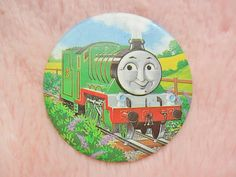 Vintage Retro 80s 90s Kids TV Thomas The Tank Engine Train Henry Collectible Pin Badge