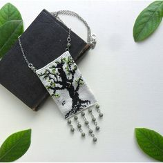 boho necklace, boho chic, beaded necklace, tree necklace,... ($37) ❤ liked on Polyvore featuring jewelry and necklaces