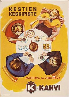 kahvimainos Vintage Advertisements, Vintage Ads, Vintage Posters, Old Commercials, Good Old Times, The Old Days, Old Ads, Vintage Coffee, Old Pictures