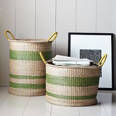 I love cool baskets for storage