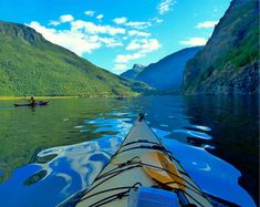 Check out our kayak print selection for the very best in unique or custom, handmade pieces from our shops. Photography Gifts, Travel Photography, Canoe And Kayak, Kayak Fishing, Norway Travel, Water Reflections, Kayaking, Canoeing, Large Wall Art