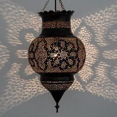 Large 53cm Brass Kora Lantern 1 Moroccan Lamp, Moroccan Lanterns, Flip Tv, Moroccan Inspired Bedroom, Marrakech, Party Themes, Fountain, Exotic, Wall Lights