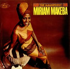 "from ""The Magnificent Miriam Makeba"" 1966 Arranged, Conducted and Produced by Luchi De Jesus Miriam Makeba, Her Music, Music Is Life, Civil Rights Activists, Music Album Covers, African Traditional Dresses, Black History Facts, African Diaspora, Cd Cover"
