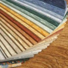 Linoleum floor samples.