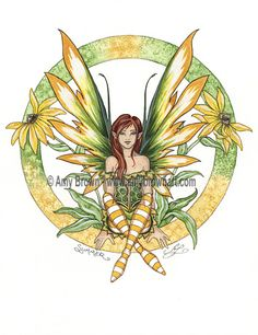 """""""Summer"""" ORIGINAL ART - Watercolor Paintings Q - Z - Amy Brown Fairy Art - The Official Gallery"""