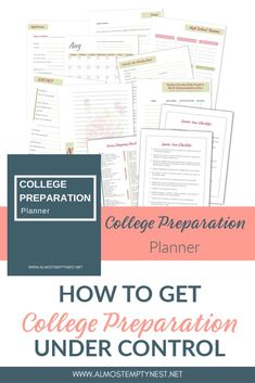 A College preparation planner full of college preparation checklists and other helpful tools. Organize the college search and college application process in one place. College Binder, College Checklist, College Planner, Teacher Planner, High School Hacks, Senior Year Of High School, High School Resume, Scholarships For College, College Majors