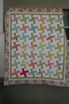 I have a new favorite quilt. It's finished, and I am giddy. I decided to quilt it myself, on my little sewing machine. I'm trying to make my hobby more affordable and I'm also trying to learn new things. Inspired by this quilt, I went for straight lines, spaced 1/2 inch apart. I'm SO pleased with the results. I will [...]