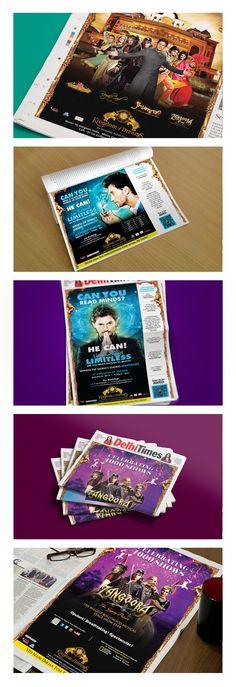 Newspaper Advertisements for Kingdom of Dreams, Gurgaon, India