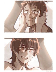 Dirty laundry art / klance / crying is human / safe place / chapter scene