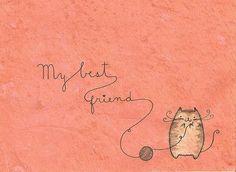 friend quotes and doodles | adorable, art, best friend, cat, cute, doodle, drawing, friend ...