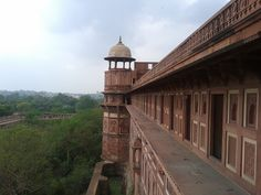 Through balcony, Agra Fort, India