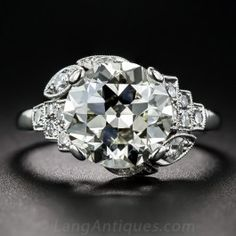 3.47ct Old European Cut Diamond Ring - Antique Engagement Rings ~ Vintage Engagement Rings - Engagement