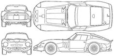 1963 Ferrari 250 GTO Coupe blueprint