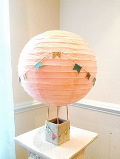 Hot Air Balloon Decorations Centerpiece  up up and by PoshSoiree