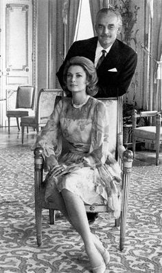 Princess Grace Kelly and Prince Rainier  Uploaded By www.1stand2ndtimearound.etsy.com