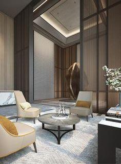 CR Land Residence - Shenzhen - Interiors - SCDA Modern Interior Design, Luxury Interior, Interior Design Inspiration, Interior Design Living Room, Interior Architecture, Interior Decorating, Scda Architects, Hotel Room Design, Restaurants