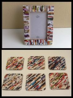 Recycled crafts...site is in a forigen language but you can see how to do it with the pictures