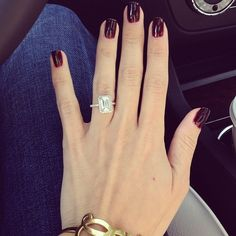 My dream engagement ring. -->Emily maynard's engagement ring + essie's clutch me if you can nail polish