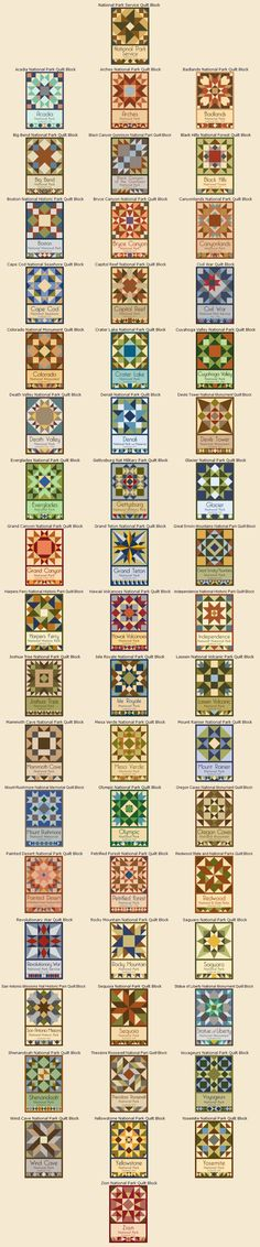 National Park Service Centennial Quilt Block Series by Susan Davis, owner of Olde American Antiques and American Quilt Blocks
