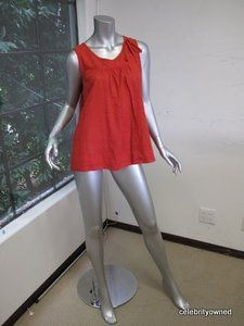 Marc by Marc Jacobs Red Sleeveless Tent Top L | eBay