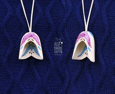 """pendant #13 (6,5cm) - NOT AVAILABLE  """"DOI"""" / """"TWO"""" porcelain jewelry f/w '12-'13 collection"""