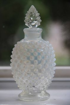 SALE Hobnail opalescent perfume bottle by Fenton by plumpickings, $30.00